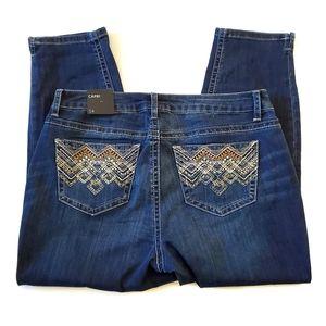 NWT Lane Bryant Beaded Capri Jeans